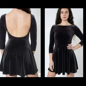 NWOT American Apparel Velvet Skater Dress, sz M